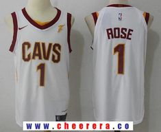 6f1a2ecd277 Men's Cleveland Cavaliers #1 Derrick Rose White 2017-2018 Nike Swingman  Goodyear Stitched NBA Jersey