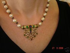 "Gorgeous deco style necklace with A+++ pearls made by the Spanish ""Cartier"" - cant remember the name of the jeweler sadly"