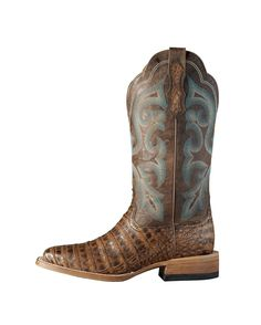 ❦ Ariat Women&39s Nitro Caiman Belly Boot - Coppered Chocolate