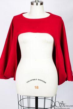 Oversize Red Sweatshirt Shrug One Size image 1 - Plus Size Fall Dresses - Ideas of Plus Size Fall Dresses Curvy Fashion, Plus Size Fashion, Girl Fashion, Fashion Ideas, Sweat Shirt, Plus Size Dresses, Plus Size Outfits, Strapless Tops, Bolero