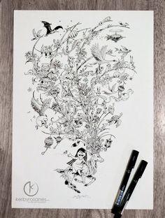 Creativa libreta de bocetos con ilustraciones de alta calidad
