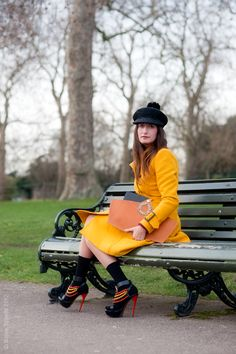 Another eye catching yellow trench coat! #BECCA #UltimateColour