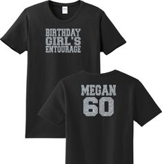 Birthday Girl s Entourage T-Shirt Add ANY Age   Name T-Shirt Sizes XS b2e6be615