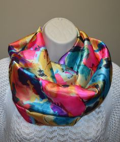 pastel infinity scarf multicolored infinity by byJuliasDesigns, $28.50