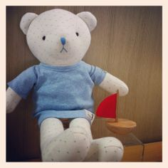 Bear Woong ee, Hanz friends, Baby's 1st soft dolls. Designed by Hanz, using organic cotton fabric.