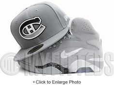 Montreal Canadiens Wolf Storm Grey White Jet Black Spur Silver Gradience New Era Fitted Hat UP NOW ON MYFITTEDS.COM