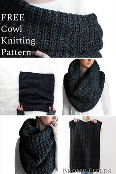 {FREE} LEADERSHIP : Oversized Cowl Knitting Pattern – Brome Fields Get your FREE Oversized Cowl Knitting Pattern! This is a super warm & cozy, snuggle worthy, versatile cowl. Baby Knitting Patterns, Knitting Stitches, Snood Knitting Pattern, Stitch Patterns, Slouchy Beanie Pattern, Cowl Patterns, Pattern Sewing, Knitting Machine, Free Pattern