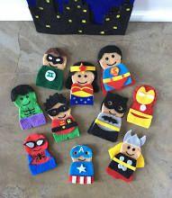 Finger Puppet DC and Marvel Super Hero Felt Finger Puppets