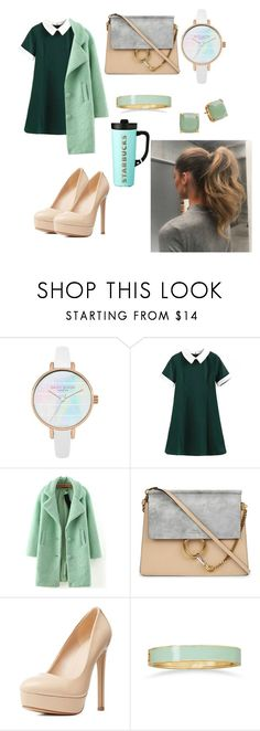 """""""University style😎"""" by dashabileski ❤ liked on Polyvore featuring WithChic, Chloé, Charlotte Russe, BillyTheTree, Kate Spade and Handle"""