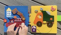 Quiet Book Templates, Quiet Book Patterns, Diy Busy Books, Kids Activity Books, Toddler Development, Felt Quiet Books, Toddler Books, Felt Toys, Infant Activities