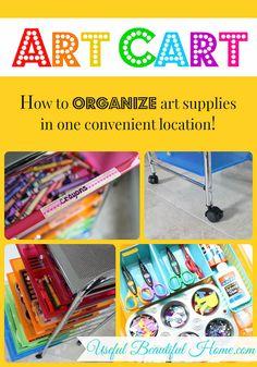 Organized Art Cart