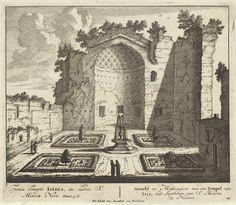 Anonymous | Ruïne van de tempel van Isis te Rome, Anonymous, Pieter Schenk (I), unknown, 1675 - 1711 |