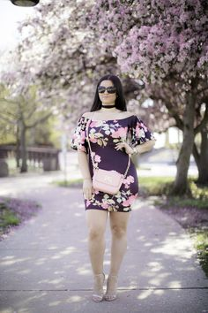 off the shoulder floral print dress Baily Lamb Lamb, Versace, Off The Shoulder, Tommy Hilfiger, Floral Prints, Chicago, Amazon, Blog, Dresses
