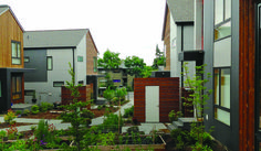 """The """"micro-hood"""" layout, shared gardens and pedestrian paths encourage neighbors to mingle -"""