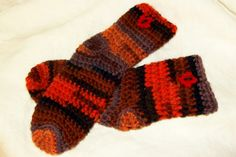 Infant Socks in Fall Colors size 18 to 24 months