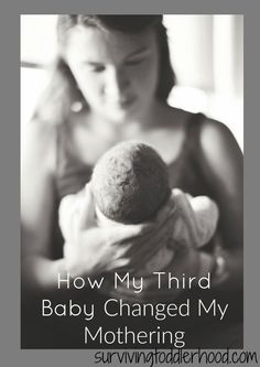 How My Third Baby Has Changed My Mothering. I knew that my third baby would change things around our house, family dynamics, how much time I got with my husband, etc, but I wasn't prepared for how baby's arrival would change my mothering. Natural Parenting, Parenting Advice, Kids And Parenting, Single Parenting, Having A Third Child, 3rd Child, Baby Number 3, Third Pregnancy, Discipline