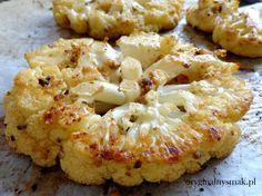 Pieczony kalafior z masłem anchois i czosnkiem   Oryginalny smak Cauliflower, Vegetables, Chili, Food, Diet, Food And Drinks, Chile, Cauliflowers, Essen
