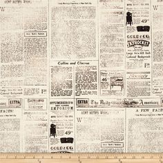 Objects Newspaper Page Vintage Tan