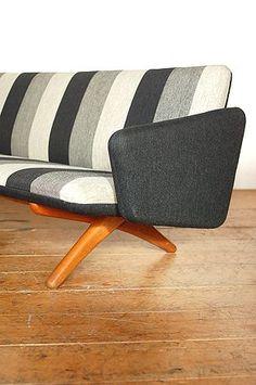 Interior design | decoration | furniture | Illum Wikkelso; Teak Base Sofa, 1960s.