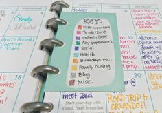 Martha Stewart 2014 Planner - In Depth Review and How to Organize. Color code the monthly pages!