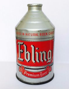 Ebling Premium Beer Crowntainer Cone Top Can New York NY USBC 193 12   eBay