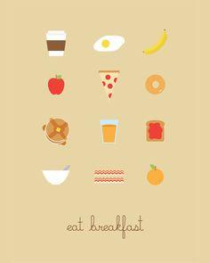 breakfast. lunch. dinner