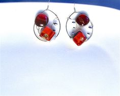 """My unique creations! 25% OFF until31march2017 ask me!!! coupon""""NEWYEAR2017""""#silver#jewelry#occasion Artisan silver earringsoval earrings sterling by Dartisanglass"""