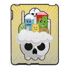 Monster Heaven Creepy and Cute Kawaii iPad Case from Zazzle.com