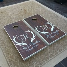Custom wedding cornhole boards #cornhole #customcornhole #wedding