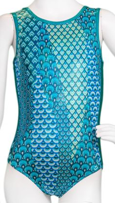 Turquoise Mermaid Side Panel Leotard #gymnastgiftguide #holidaygift #gymnast