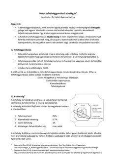 Helyi tehetséggondozó stratégia1 készítette: Dr. habil. Gyarmathy Éva Alapelvek • A tehetséggondozásnak, mint minden egyéb...