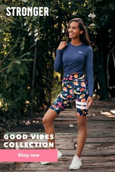 The new Good Vibes Collection from Stronger. Group Fitness, Yoga Fitness, Fitness Tips, Yoga Workouts, Workout Gear, Yoga Leggings, Workout Leggings, Thing 1, Fitness Outfits