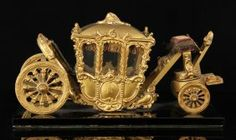 Miniature Gilt Stage Coach