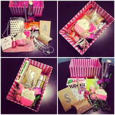 Trendy birthday box ideas for sister gift baskets ideas Birthday Box, Birthday Crafts, Friend Birthday, Birthday Presents, Surprise Birthday, Craft Gifts, Diy Gifts, Send Gifts, Holiday Gifts