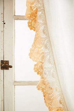 Ombre Lace Curtain from Anthropologie. Good use for Grandma's lace doilies?