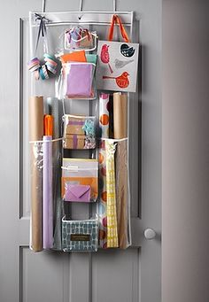 Ideas For Organising Your Home. Gift Wrap StorageDoor ...