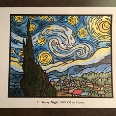 their entry to our Chameleon Starry Night contest Van Gogh Art, Van Gogh Paintings, Vincent Van Gogh, Chameleon, Veronica, Night, Artist, Artwork, Instagram