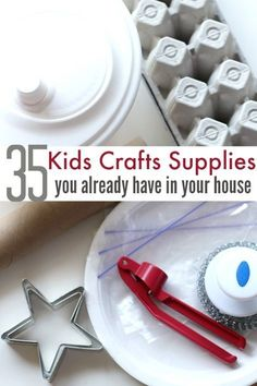 Things around your house you can use for making crafts with your kids.