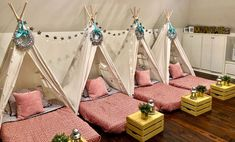 Upcountry Camp offers luxury tent and teepee rentals for parties, sleepovers and camping in and around Mississippi. Slumber Party Birthday, Fun Sleepover Ideas, Sleepover Birthday Parties, Sleepover Room, 12th Birthday, Birthday Ideas, Indoor Tents, A Frame Tent, Teepee Party