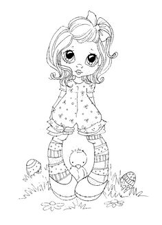 sherri baldy my besties Coloring Book Pages, Coloring Sheets, Creation Art, Copics, Digital Stamps, Printable Coloring, Big Eyes, Coloring Pages For Kids, Colorful Pictures