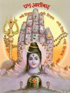 Blessings of Shiva (via Dolls of India) Shiva Parvati Images, Shiva Hindu, Shiva Art, Shiva Shakti, Hindu Deities, Hindu Art, Hindu Rituals, Krishna Art, Krishna Images