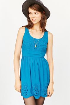 Pins And Needles Scallop-Hem Fit + Flare Dress