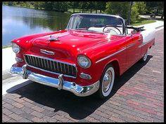 1955 Chevrolet Bel Air Convertible 350 CI, Automatic #Mecum #Kissimmee #WhereTheCarsAre