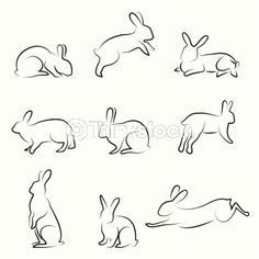 standing rabbit drawing - Google Search