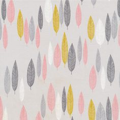 134205 Leaf Line-Up | Pink Quilter's Cotton from First Light by Eloise Renouf for Cloud9 Fabrics