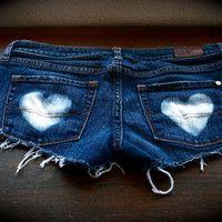 Bleached heart shorts. So cute