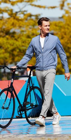Summertime and the skies are blue – but are they as blue as this blouson jacket from Bogner? Get out, get active, but stay comfortable and classy in the all new athleisure line from Bogner.