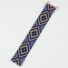 Mousseux Blues perle Loom Bracelet bohémien Boho par PuebloAndCo