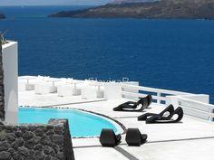 Santorini ocean: Greek Islands by the pool