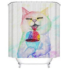 Weisin Raindrop Print Shower Curtain Cartoon Pattern Washable Hanging Curtain Portable Easy Install Bathroom Kitchen Hanging Accessories,Shower